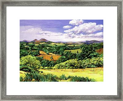 Rolling Hills Of Scotland Framed Print by David Lloyd Glover