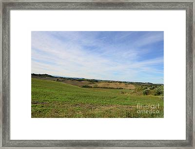 Rolling Hills Of Tuscany Italy Framed Print by DejaVu Designs