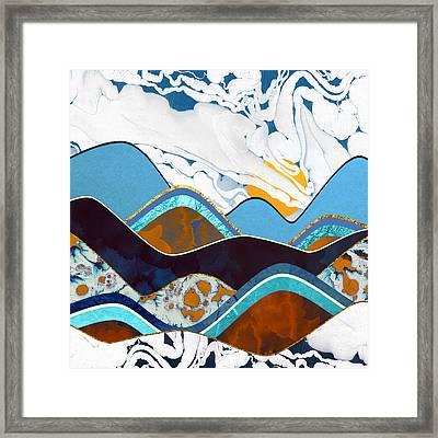 Rolling Hills Framed Print by Spacefrog Designs