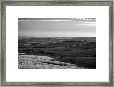 Framed Print featuring the photograph Rolling Hills by Thomas Bomstad