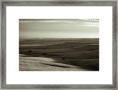 Framed Print featuring the photograph Rolling Hills Toned by Thomas Bomstad