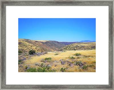 Rolling Landscape Framed Print
