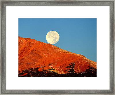 Rolling Moon Framed Print