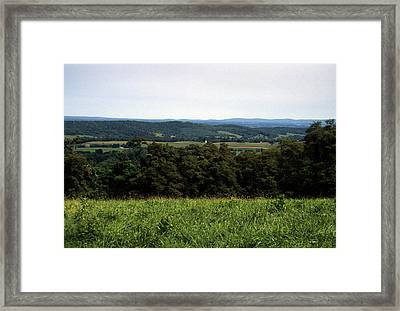 Rolling Mountains Dot The Pennsylvania Framed Print by Stacy Gold