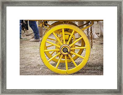 Rolling On Framed Print by Linda Lees