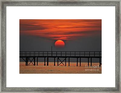 Rolling Down On The Sea Framed Print