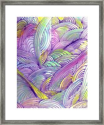 Rolling Patterns In Pastel Framed Print by Wayne Potrafka