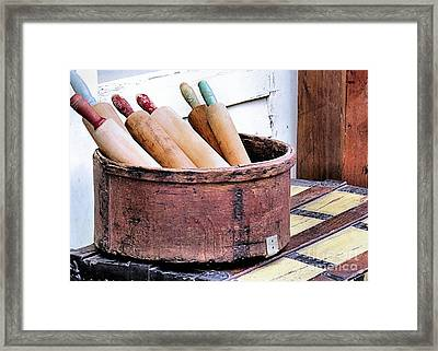 Rolling Pins Framed Print by Janice Drew
