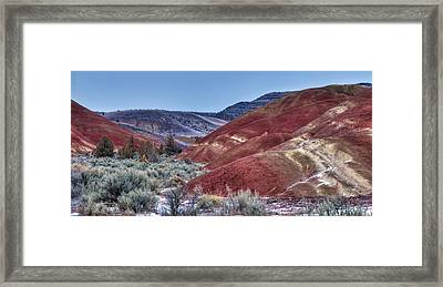 Rolling Red Framed Print