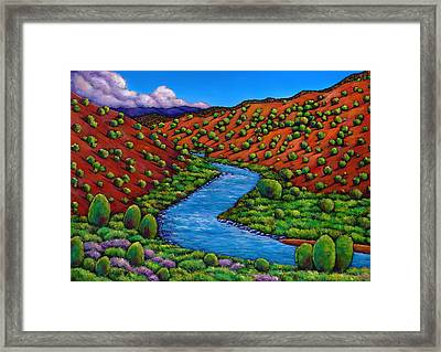Rolling Rio Grande Framed Print by Johnathan Harris