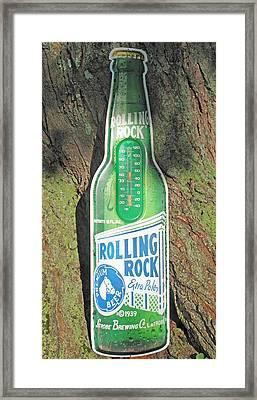 Rolling Rock Beer Framed Print