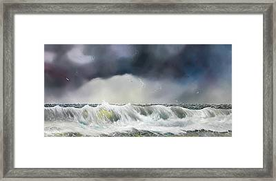 Rolling Sea Framed Print by Don Griffiths