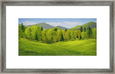 Framed Print featuring the painting Rolling Spring Pastures  by Frank Wilson