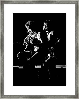 Rolling Stones 1970 Mick And Keith Live Framed Print by Chris Walter