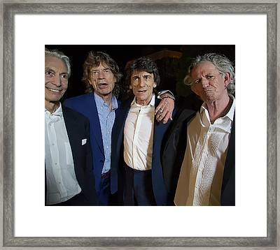 Rolling Stones Casual Framed Print