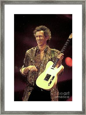 Rolling Stones Keith Richards Painting Framed Print