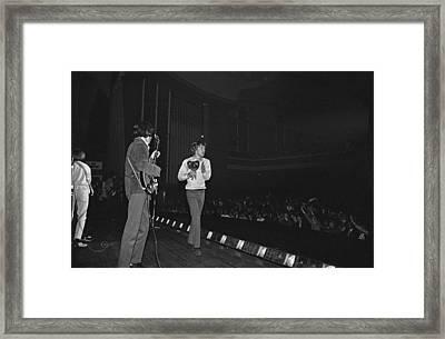 Rolling Stones Play Dublin Framed Print