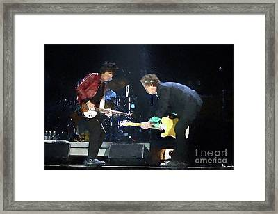 Rolling Stones Ron Wood Keith Richards Painting Framed Print