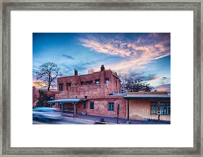 Rolling Through The Streets Of Santa Fe At Sunset - The City Different New Mexico Framed Print by Silvio Ligutti