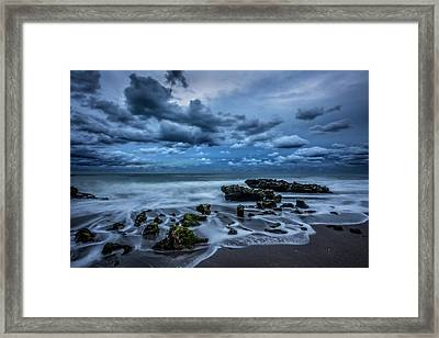 Framed Print featuring the photograph Rolling Thunder by Debra and Dave Vanderlaan