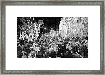 Rolling Toomer's Black And White Framed Print