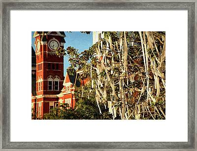 Rolling Toomer's Corner And Samford Hall Framed Print by JC Findley