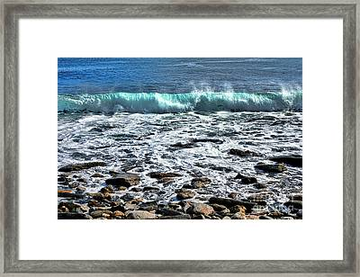 Rolling Wave On The Coast Of Maine Framed Print
