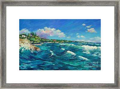 Rolling Waves At Prospect Reef Framed Print by John Clark