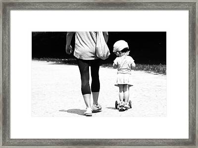 Rolling With Moms Framed Print