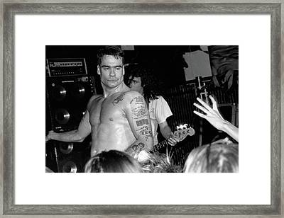 Rollins Band Framed Print by Kent Moore