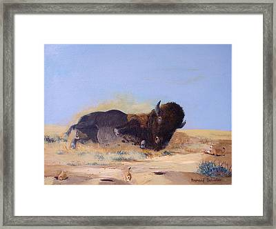 Roll'n On The Prairie Framed Print by Raymond Schuster