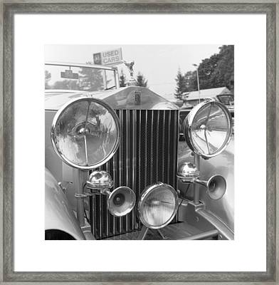 Rolls Royce A1 Used Car Framed Print by Richard Singleton