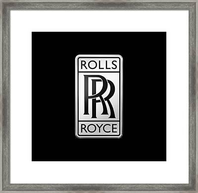 Rolls Royce Framed Print