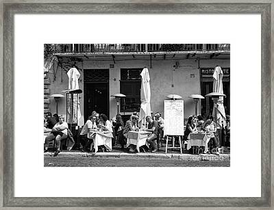 Roma Lunch 2015 Framed Print by John Rizzuto