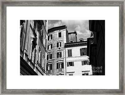 Roma Shadows 2015 Framed Print by John Rizzuto