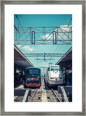 Roma Termini Railway Station Framed Print