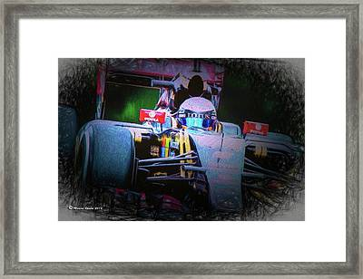 Romain Grosjean 2015 Framed Print