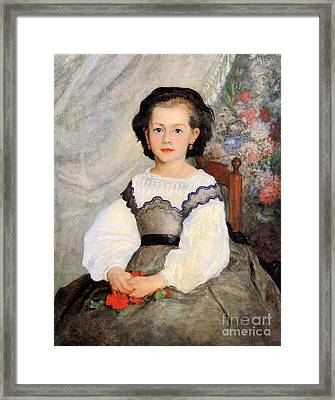 Romaine Lascaux Framed Print by Renoir