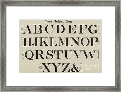 Roman Analytical, Large Framed Print