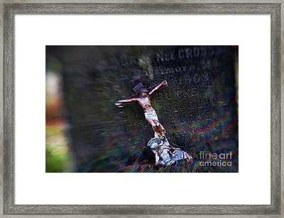 Roman And Crucifix Framed Print by Susan Isakson
