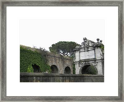 Framed Print featuring the photograph Roman Aqueduct by Manuela Constantin