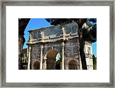 Framed Print featuring the photograph Roman Arch by Harry Spitz