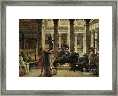 Roman Art Lover Framed Print by Sir Lawrence Alma-Tadema