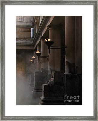 Roman Baths Framed Print by Amanda Barcon