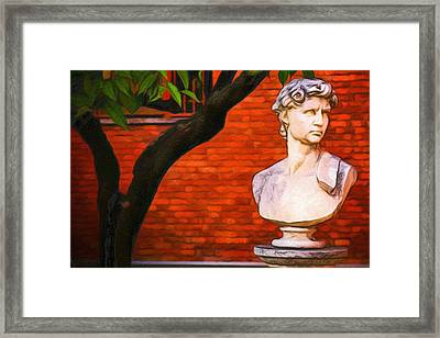 Roman Bust, Loyola University Chicago Framed Print by Vincent Monozlay