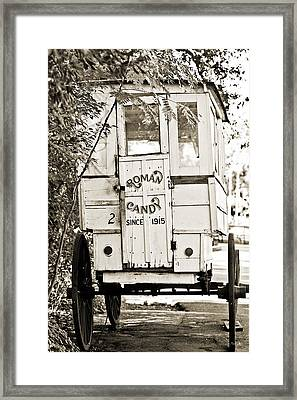 Roman Candy Cart Framed Print
