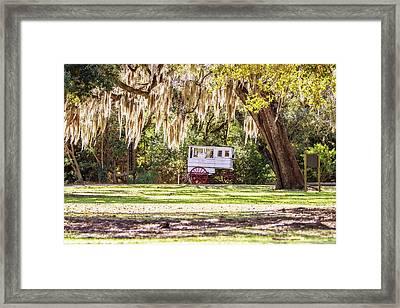 Roman Candy Cart Under The Oaks Framed Print