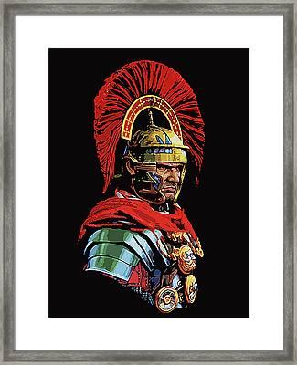 Roman Centurion Portrait Framed Print