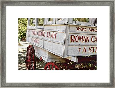 Roman Chewing Candy - Surreal Framed Print