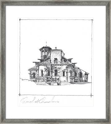 Roman Church At Chamalieres Framed Print